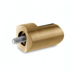Messing matt Design Anschlag-Adapter - Glas 4-9 mm - Rohr 38.1 mm
