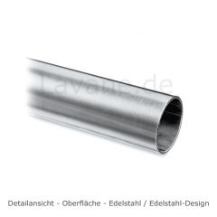 Hustenschutz Pfosten 20-131-25 rechts - Rohr Ø 25.4 mm - Edelstahl Design
