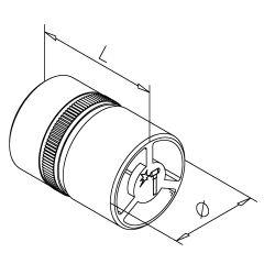 Rohrverbinder Innen für Rohr 19 mm