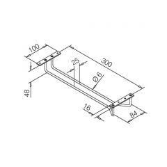 Messing Design matt - Gläserhalter 300 mm