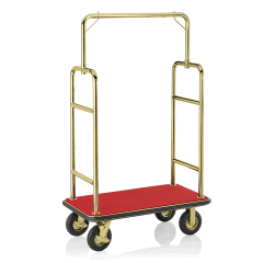 Koffer Transportwagen 1130x620 mm - Messing Design - ROT