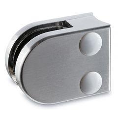 Edelstahl Dsgn Glasklemme 20 - Rohr 25,4 mm - Glas 6-8 mm