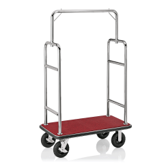 Koffer Transportwagen 1130x620 mm - Chrom Design - ROT