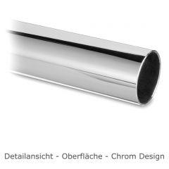 Hustenschutz Pfosten 20-120-25 links - Rohr Ø 25.4 mm - Chrom Design