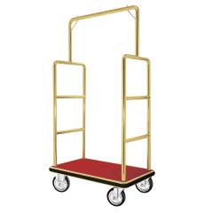 Koffer Transportwagen 1050x625 mm - Messing Design - ROT