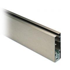 Glasscheibenprofil 43 - 250cm - Edelstahleffekt Glas 10-10.76mm