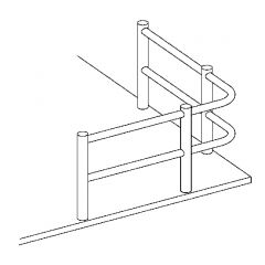 Edelstahl DS Endstütze doppelt - Stab 6 mm Holzmontage