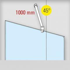 Duschwand Stabilisationsset 45° - Ø19mm - Länge 1.000mm - Edelstahl Design