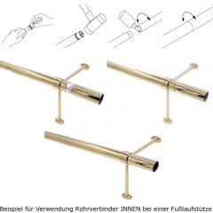 Anthrazit Design 20-0102 Fusslaufstütze Rohr 38,1 mm