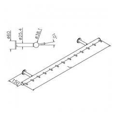 Wurstgehänge 20-7100-100 - Rohr Ø 38.1 mm - Messing Design - 1.000 mm