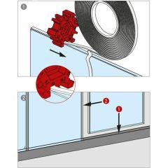 Verbindungsklebeband für Glaswand - für Glas 10 - 10,76 mm - 12 m Rolle