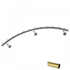 Wurstgehänge 20-7120-100 - Rohr Ø 38.1 mm - Messing Design - 1.000 mm
