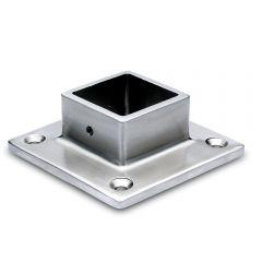 Edelstahl Vierkant 35x35 mm - Wand- und Bodenflansch
