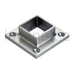 Edelstahl Vierkant 30x30 mm - Wand- und Bodenflansch