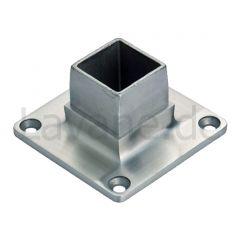Edelstahl Vierkant Boden- und Wandflansch für Rohr 30x30 mm
