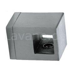 Edelstahl Querstabhalter für Vierkant 12x12