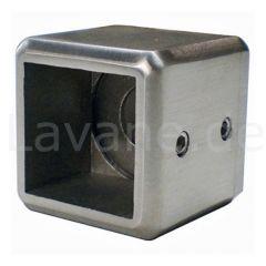 Edelstahl Adapter - Wandhalter für Vierkant 30x30