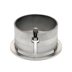 Edelstahl Rohr 76,2 mm Rohrbefestigungshülse