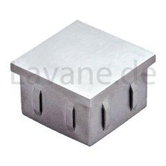 Endkappe flexiebel für Edelstahl Vierkantrohr 40x40 mm