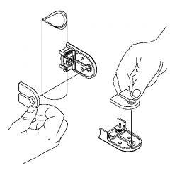 Messing Design Glasklemme 27 - Rohr 25,4 mm - Glas 6-8,76 mm