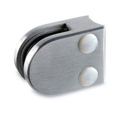 Edelstahl V2A Glasklemme - 20 - Rohr 25,4 mm - Glas 6-8 mm