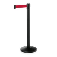 Abgrenzungsständer schwarz - ECO-L Gurtband ROT 2m