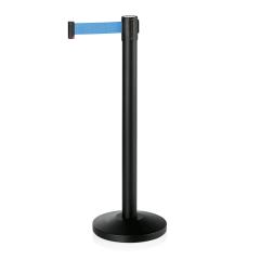 Abgrenzungsständer schwarz - ECO-L Gurtband BLAU 2m