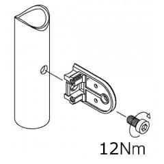 Messing matt Design Glasklemme 22 - Rohr 38,1 mm - Glas 6-10mm