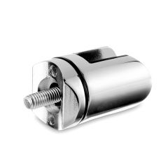 Chrom Design Scharnier-Adapter - Glas 4-9 mm - Rohr Ø 38.1 mm
