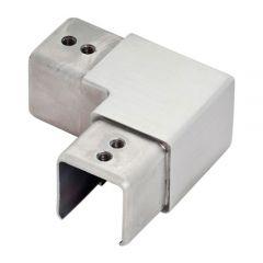 Nutrohr 25x25 mm Eckbogen 90° horizontal Edelstahl