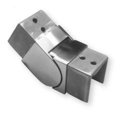 Nutrohr 40x40 mm Gelenkbogen Außenecke Edelstahl