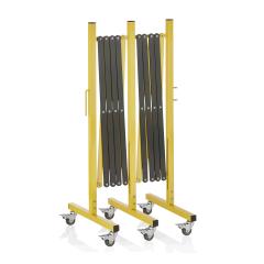 Absperr Scherengitter - Aluminium - Gelb Schwarz