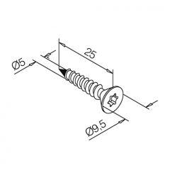 Anthrazit Design Holzschraube 5x25 - 50 Stück