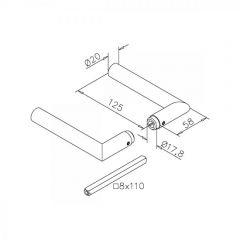 Hustenschutz Pfosten 35x35 - 20-13335 - 90° - Anthrazit matt Design