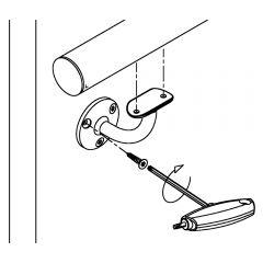 Messing matt Design Handlaufstütze Rohr 38,1 mm Schraubmontage