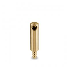 Messing matt Design MiniRail Endstütze 11606 für Stab 6mm