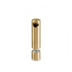 Messing matt Design MiniRail Endstütze 11806 für Stab 6mm