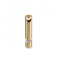 Messing matt Design MiniRail Mittelstütze 11816 für Stab 6mm