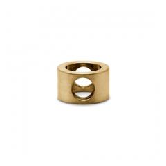 Messing matt Design MiniRail Adapter Mittelstück für Stab 6mm