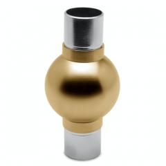 Messing matt Design Rohr 25,4 mm Kugelrohrverbinder 180°