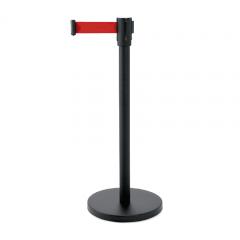 Abgrenzungsständer schwarz - ECO-F Gurtband ROT 2m