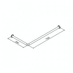 Messing matt Design Garderobe Modell 20731 - 25,4 mm