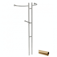 Messing matt Design Garderobe Modell 20720 - 25,4 mm