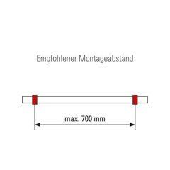Anthrazit Design Rohrhalter gewölbt für Rohr 38,1 mm