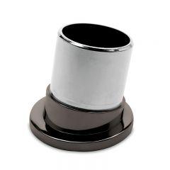 Anthrazit Design Rohr 38,1 mm Rohrbefestigungshülse 80°