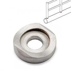 Edelstahl DS Glasbodenträger Rohr 25,4 mm - 300 mm