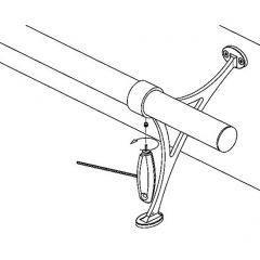 Edelstahl Design Fußlaufstütze Rohr 38,1 mm 20-0101