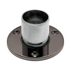Anthrazit Design Boden & Wandflansch für Rohr 38,1 mm