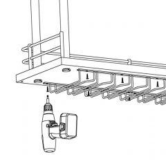Anthrazit Design Gläserhalter 5-fach - 350 mm