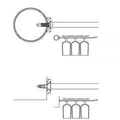 Anthrazit Design Gläserhalter 6-fach - 300 mm